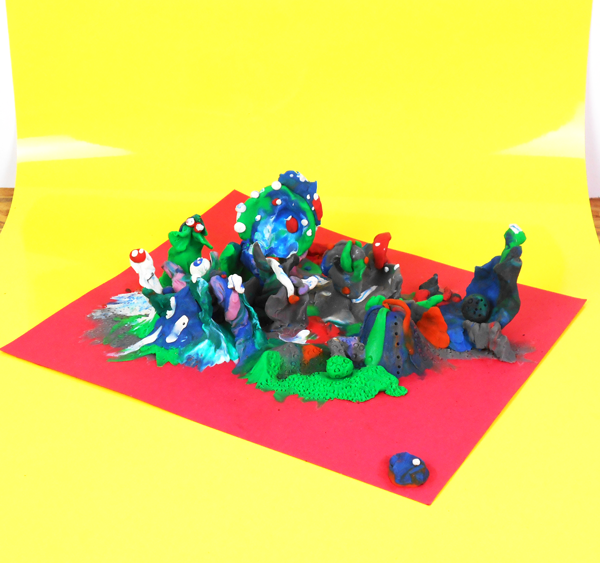 inhabitants of - SLURM VILLAGE - plasticine scene