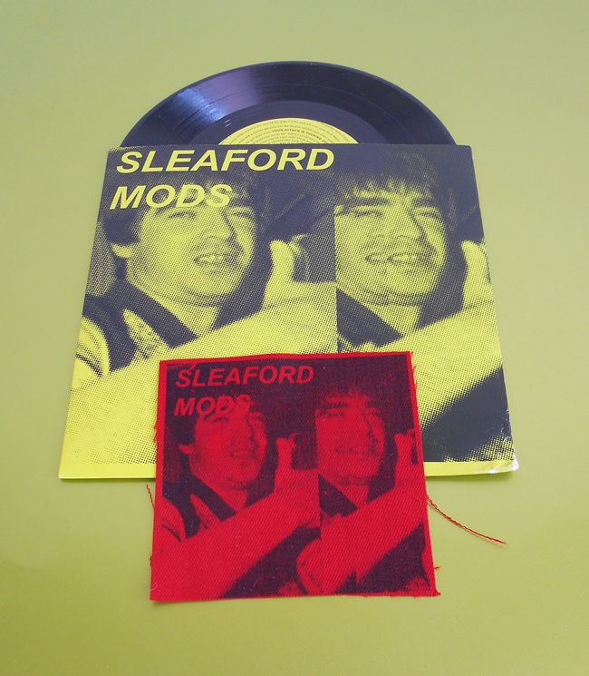Silkscreened Patch - Sleaford Mods Jobseeker release on KRAAK records