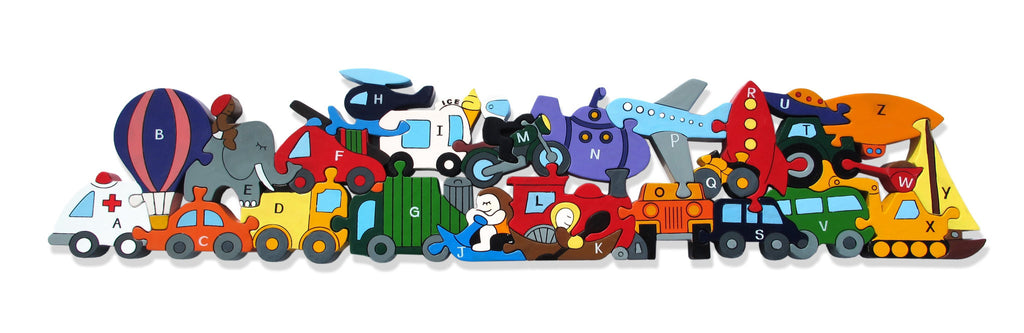 Alphabet Transport Jigsaw and Playset