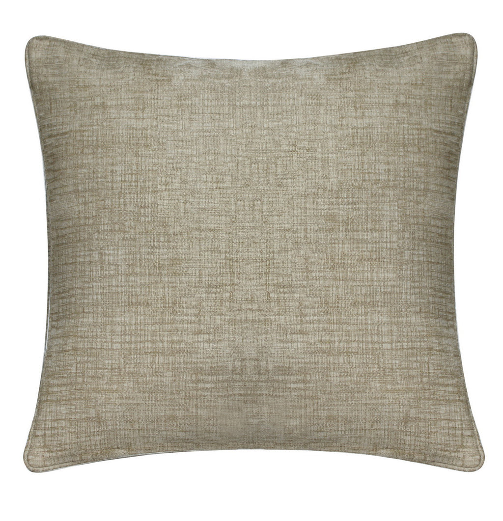 Chenille Beige Square Cushions