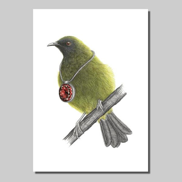 Bellbird with pendant