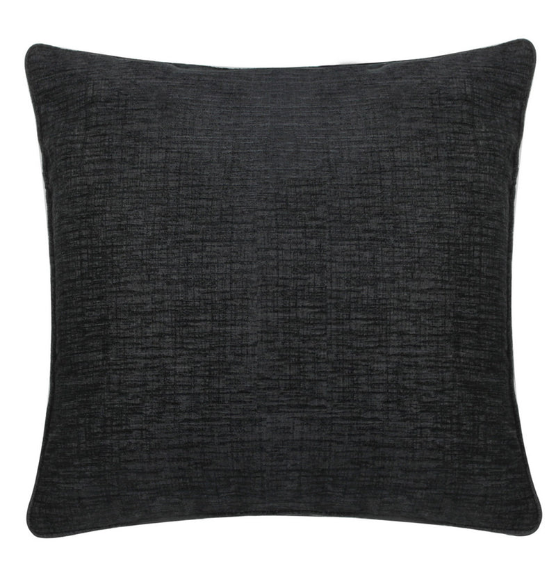 Chenille Black Square Cushions