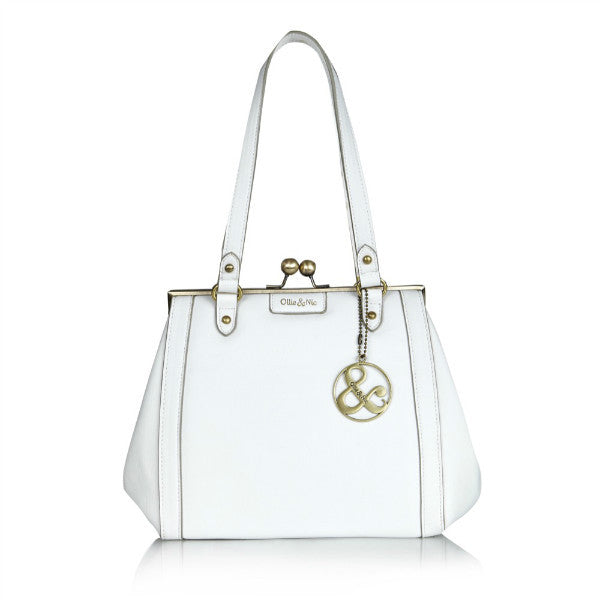 Ollie & Nic Connie Clip White Handbag
