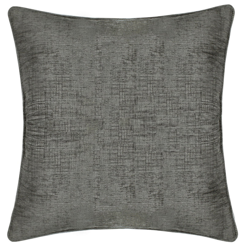 Chenille Charcoal Square Cushions
