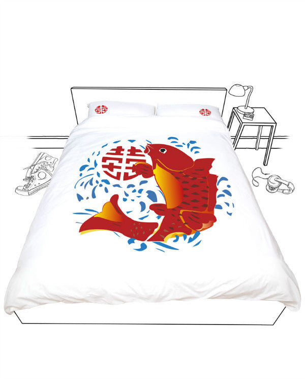 Doovay Lucky Fish Double Duvet Cover