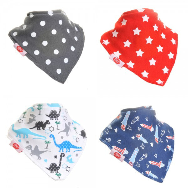 Zippy Baby Bandana Dribble Bib Uptown Boys 4-Pack