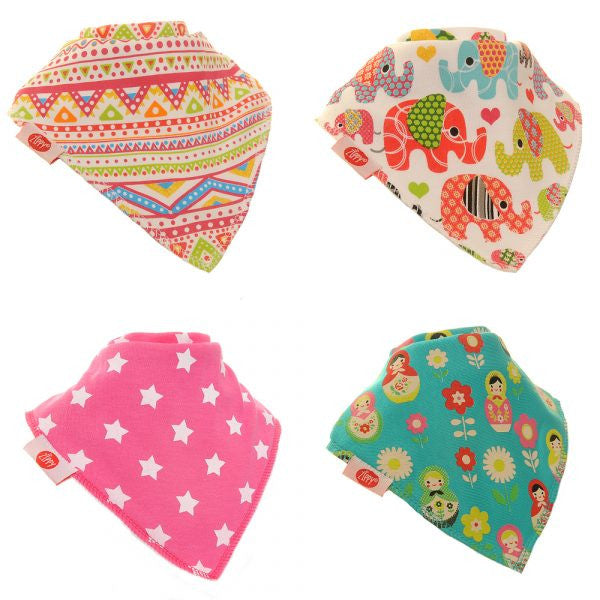 Zippy Baby Bandana Dribble Bib Ethnic Inspirations 4-Pack