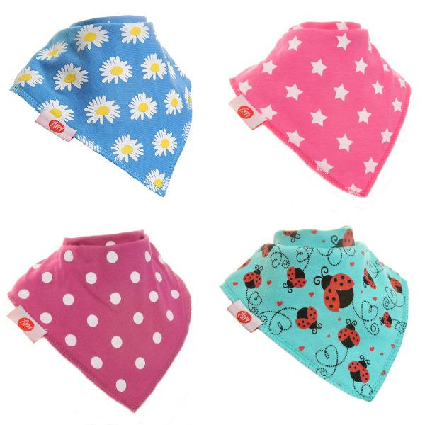 Zippy Baby Bandana Dribble Bib Funky Brights 4-Pack