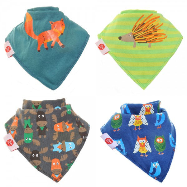 Zippy Baby Bandana Dribble Bib Cute Boys 4-Pack