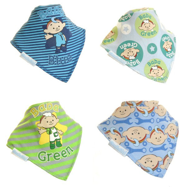 Cloud Babies Bandana Baby Boy Dribble Bib 4-Pack