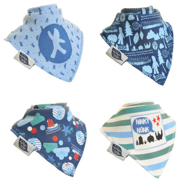 The Night Garden Bandana Baby Boy Dribble Bib 4-Pack