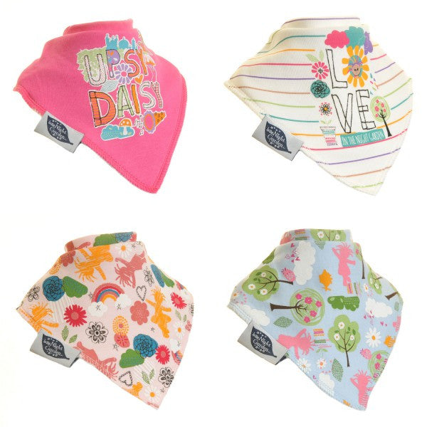 In The Night Garden Bandana Baby Girl Dribble Bib 4-Pack