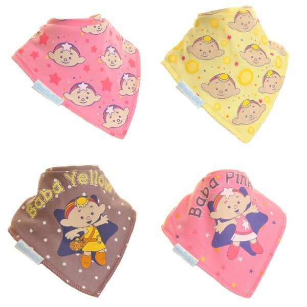 Cloud Babies Bandana Baby Girl Dribble Bib 4-Pack