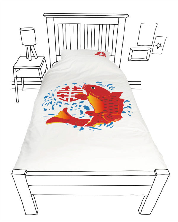 Doovay Lucky Fish Single Duvet Cover