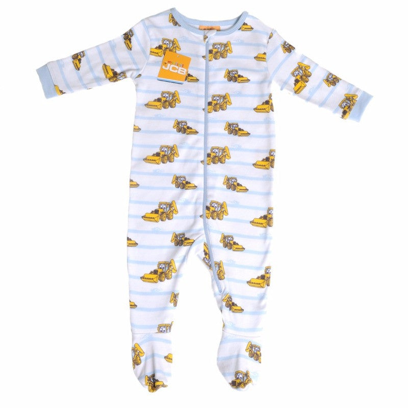 JCB Baby Boy Stripe Zip All-In-One