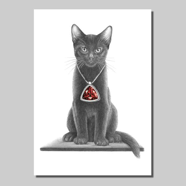 Kitten with pendant