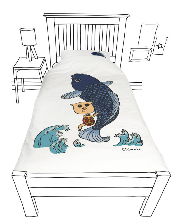 Doovay Bukkyo Koi Single Duvet Cover