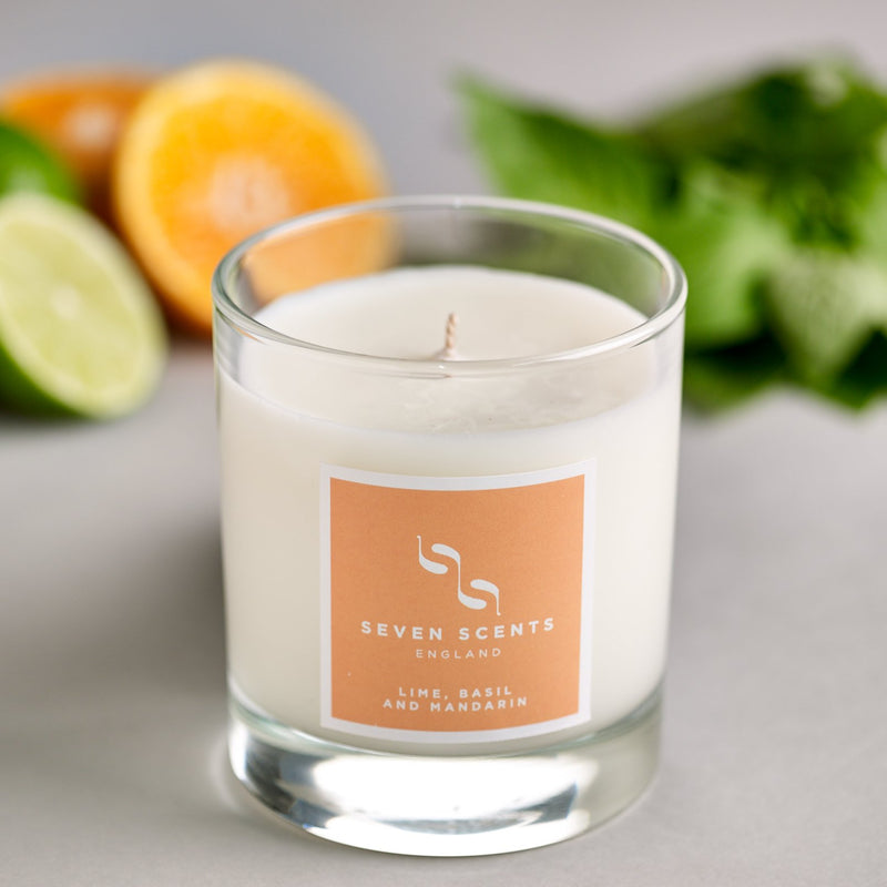 Seven Scents Lime Basil & Mandarin Signature Candle