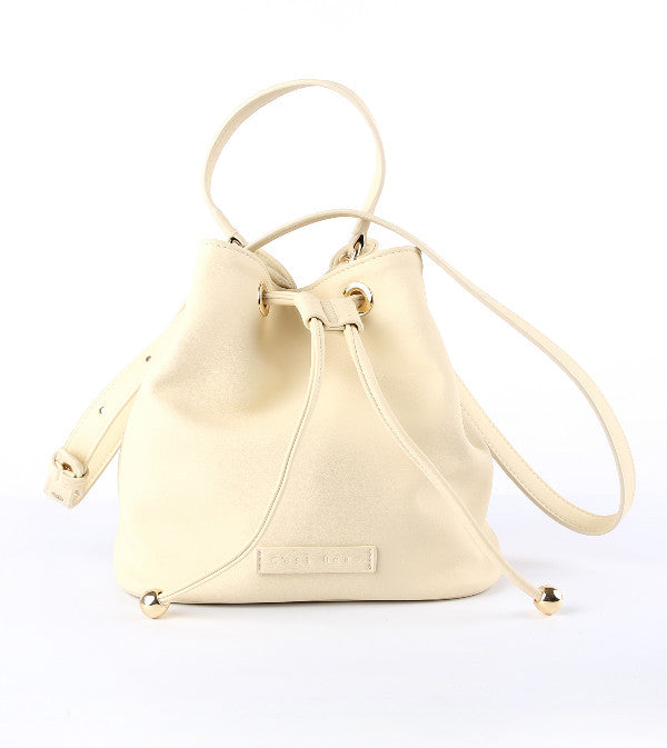 C'est Beau Cream Macaroon Bucket Bag