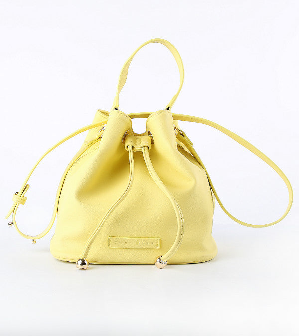 C'est Beau Yellow Macaroon Bucket Bag