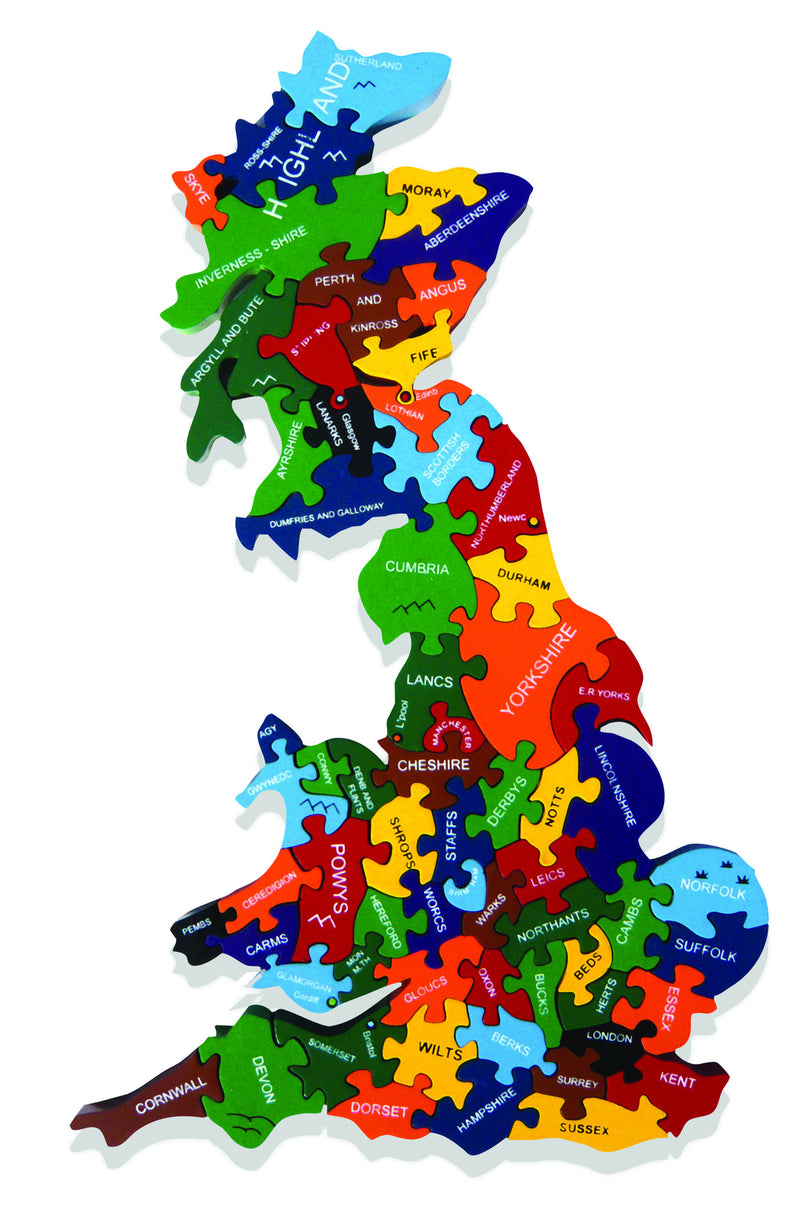 Map of Britain Jigsaw