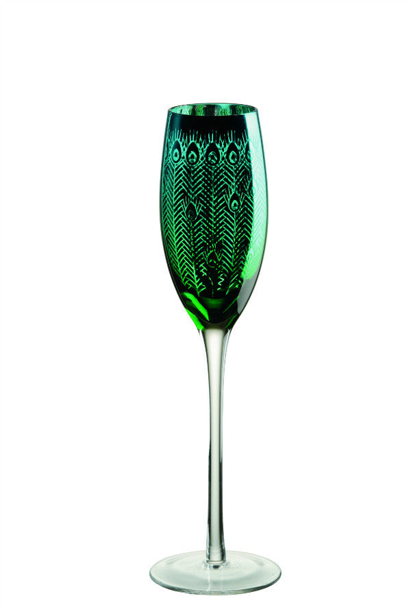 Artland Peacock Champagne Flutes
