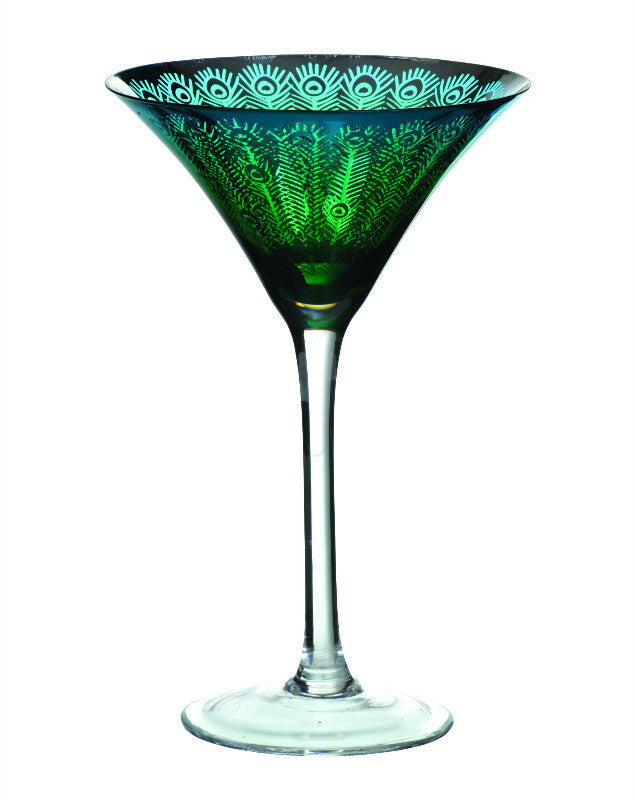 Artland Peacock Martini Glass