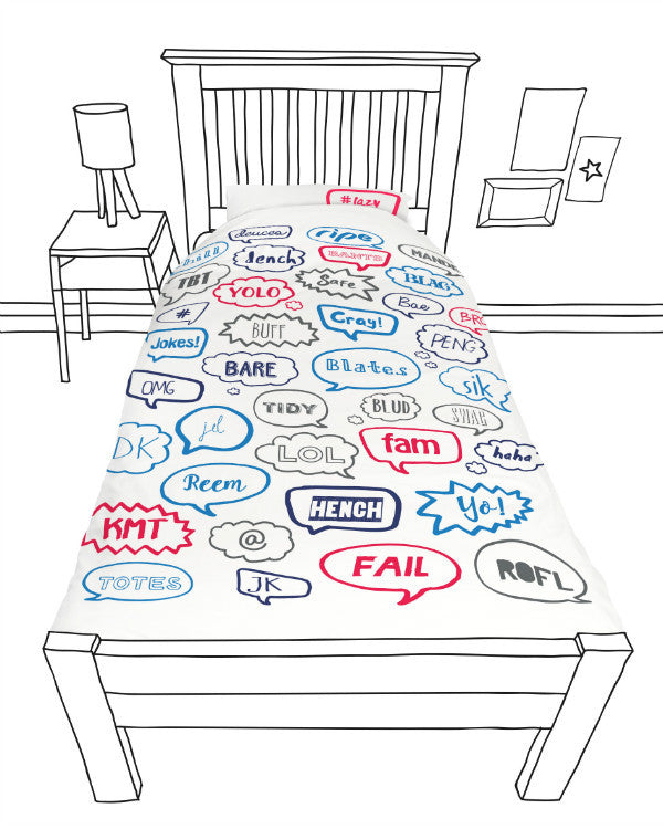 Doovay Phat talk Single Duvet Cover