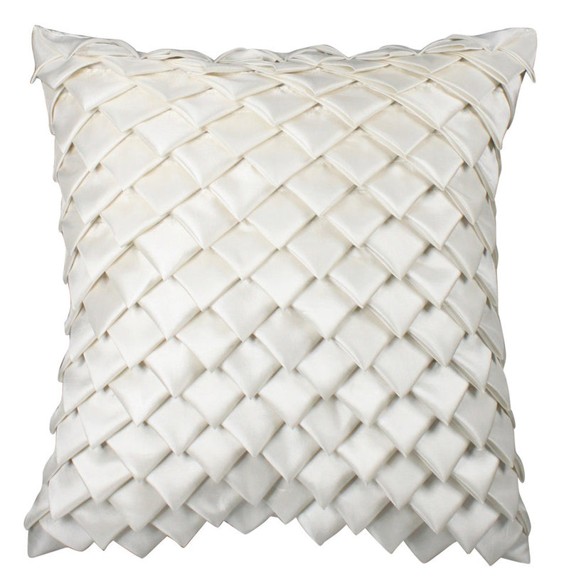 Satin Diamond Pure White Fold Cushion