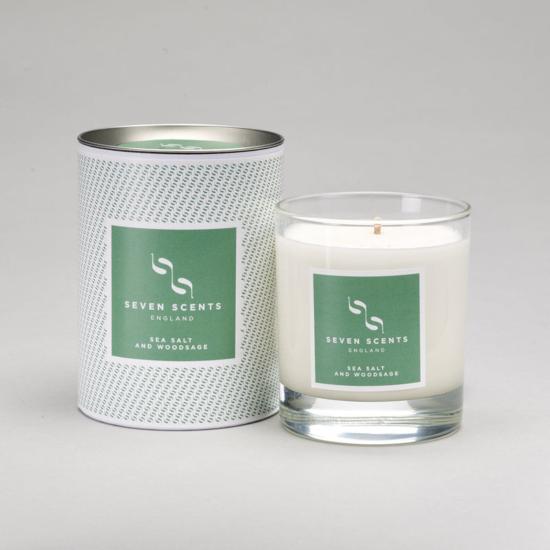 Seven Scents Sea Salt & Wood Sage Signature Candle