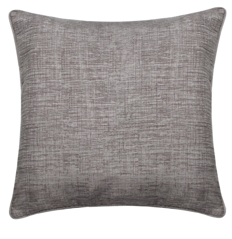 Chenille Brushed Slate Square Cushions