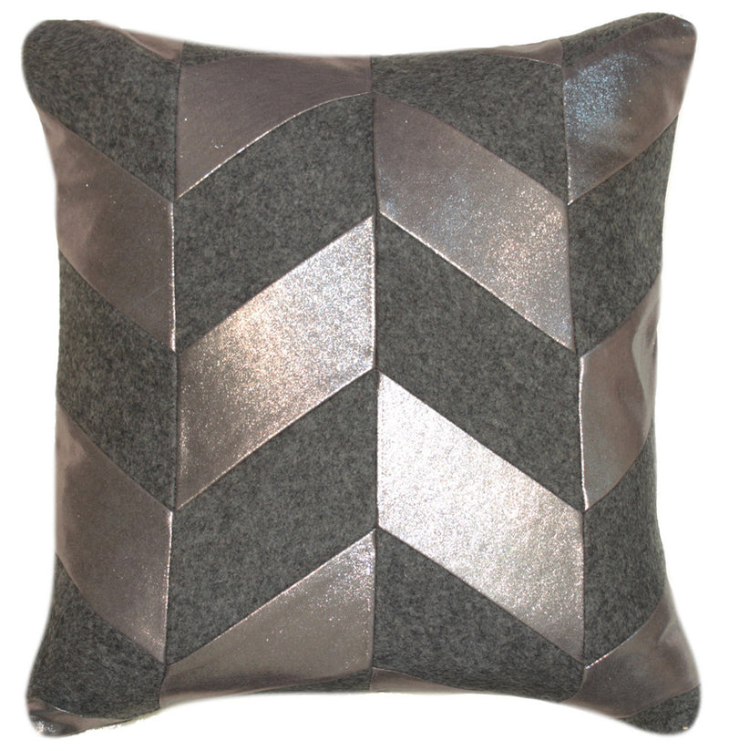 Velvet and Leather Cushion