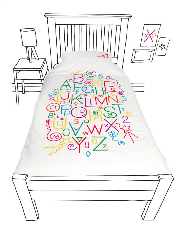 Doovay Write Skills Single Duvet Cover