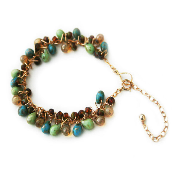 Juno James Gold Teardrop Bracelet