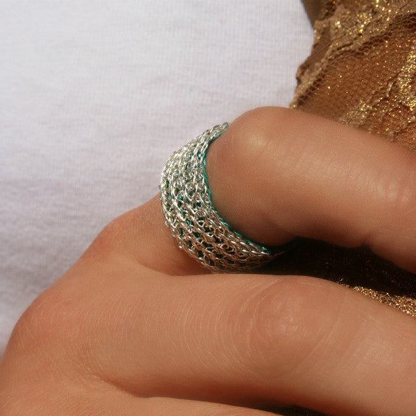 Juno James Sterling Silver and Teal Ring
