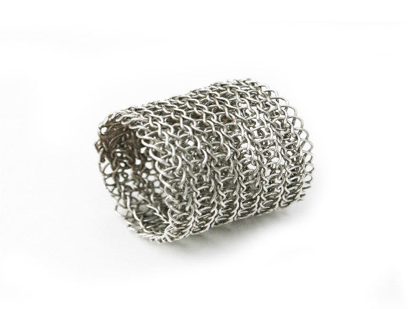 Juno James Sterling Silver Hand Crocheted Ring