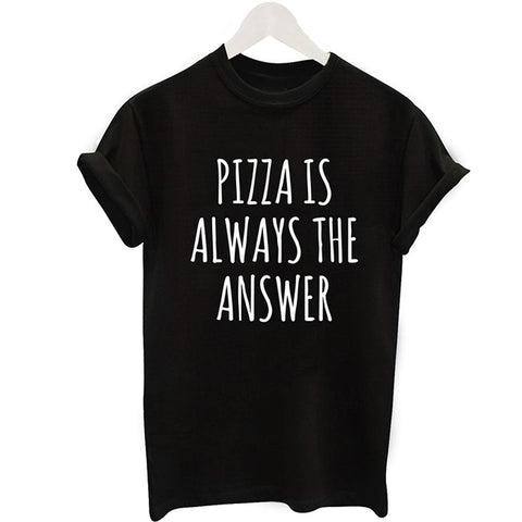 ALWAYS THE ANSWER Casual Women Black T-Shirt
