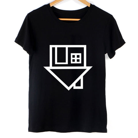 Women Casual HOUSE Femme Black Tees
