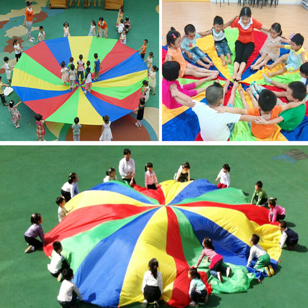 6FT Kids Play Rainbow Parachute Outdoor Game Exercise Sport Group Activities
