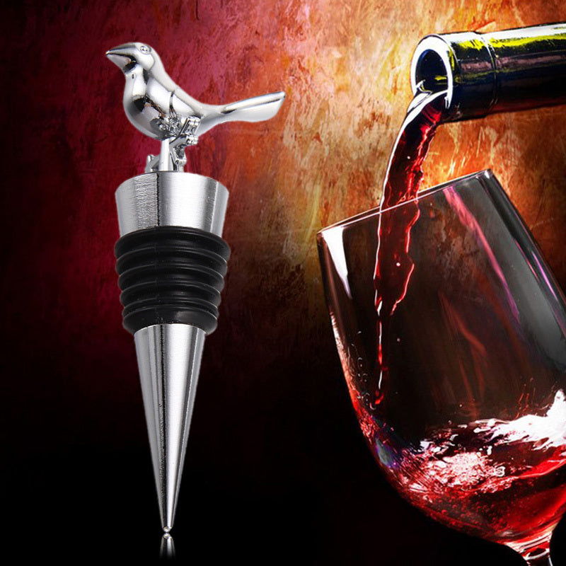 Clearance Stainless Steel Love Bird Wine Stopper