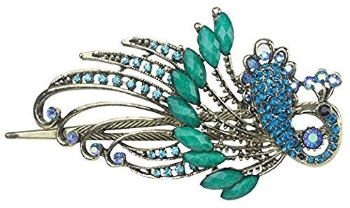 Jewelry  Lovely Vintage Jewelry Crystal Green Peacock Hair Clips - for hair clip Beauty Tools