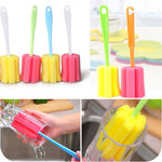 1Pc Cup Brush Kitchen Cleaning Tool Sponge Brush For Wine Bottle Coffee Tea Glass Cup Mug