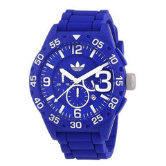 Adidas ADH2794 Newburgh Chronograph Men's  Rubber Strap Watch (Blue)