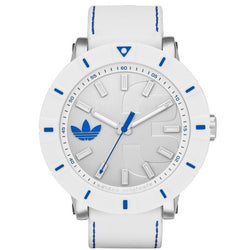 Adidas ADH3040 Men's Amsterdam Analog Display Analog Quartz Watch (White)