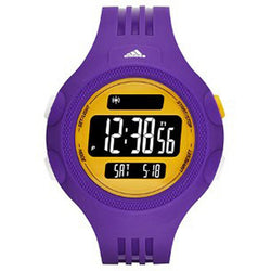 Adidas ADP3137 Men's Digital Watch (Purple/Yellow)