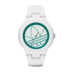 Adidas Ladies Aberdeen White Silicone Strap Quartz Watch ADH3108