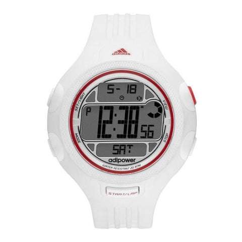 Adidas Women's White Adipower Digital Chrono Watch ADP3132