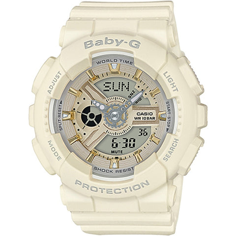 Casio Baby BA-110 Series Trendy Ecru Matte Resin Band Watch BA-110GA-7A2