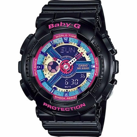 Casio Baby-G BA-112-1A Womens Black Resin Strap Watch