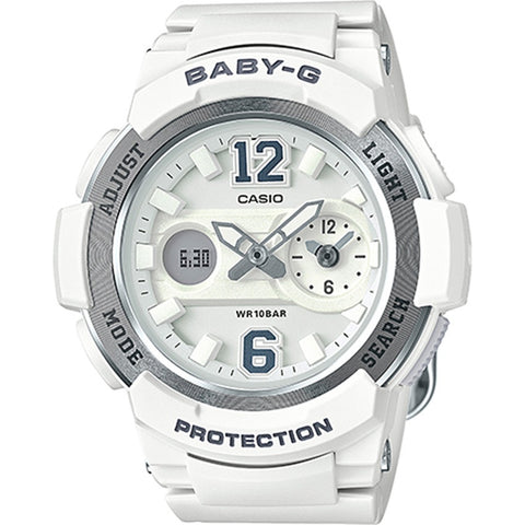 Casio Baby-G Dual Dial World Time Analog Digital Watch BGA-210-7B4
